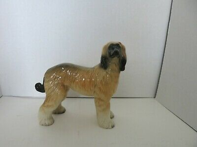 Vintage Afghan Hound dog figure ceramic home decor England