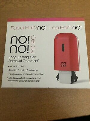 No No Micro Thermicon Long Lasting Hair Removal Treatment Red Unisex New Sealed
