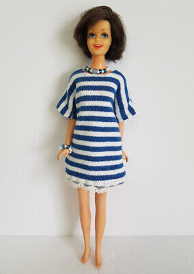 Purse /& Jewelry HM Fashion  NO DOLL d4e FRANCIE DOLL CLOTHES Retro Mod Dress