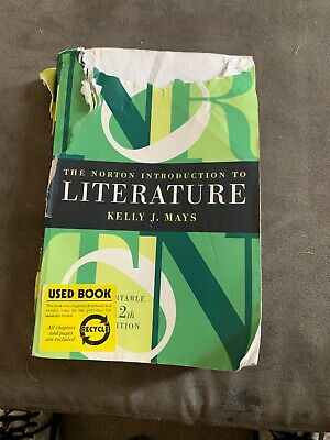 The Norton Introduction to Literature by Kelly Mays 12th edition 2016