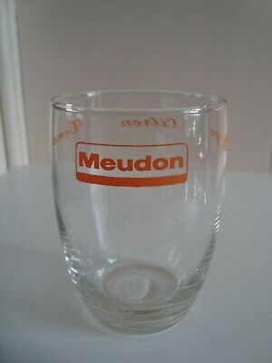 Ancien verre à limonade MEUDON orange citron tona