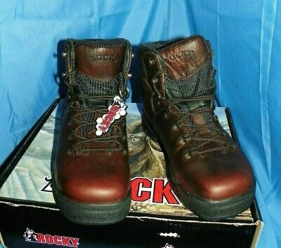 NEW ROCKY MOBILITE STEEL TOE WATERPROOF WORK BOOTS 6115 ALL SIZES
