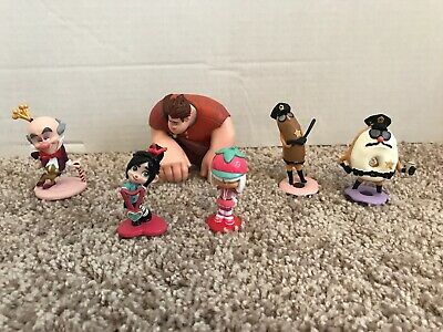 Wreck it Ralph Sugar Rush Figurine Playset. Rare & Hard to Find! Disney Store