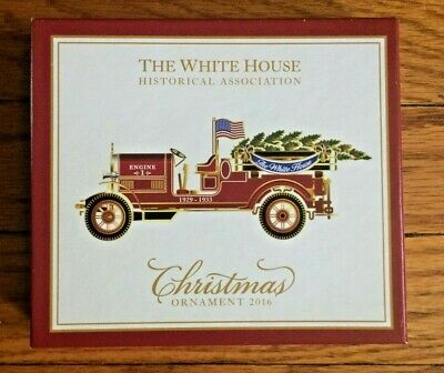 The White House Historical Association Christmas Ornament 2016 With Box And Book