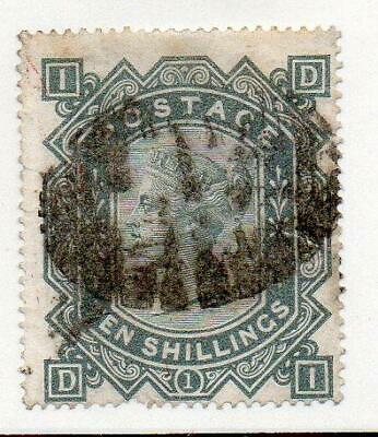 GB Queen Victoria Surface Printed. 1878 10/- Greenish Grey SG 128. (cat £3200)