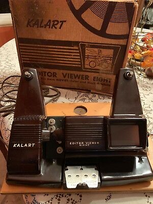 Vintage Kalart Editor Viewer Eight For All 8 mm Movies Color B&W WORKS GREAT!