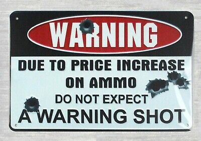 US Seller- affordable home goods do not expect a warning shot metal sign
