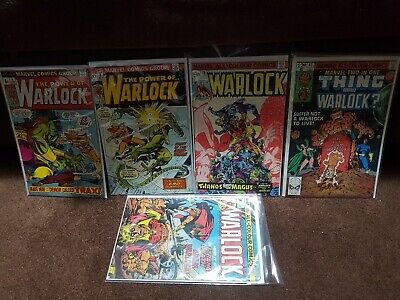 The Power Of Warlock 4, 8, 10, Marvel Two-In-One 63 Bronze Age Lot #11 Free!