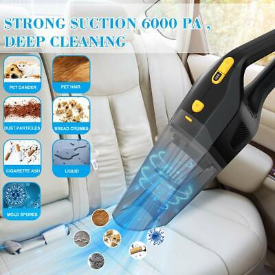 120W 18V 6000PA Handheld Vac Wet & Dry Car Van Bagless Vacuum Cleaner