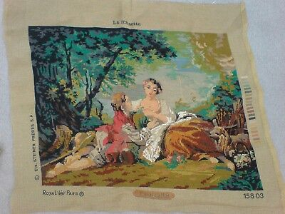 Vintage Tapestry Wallhanging Canvas (part worked in silks) ***Boucher