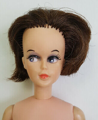 SALE TRESSY DOLL Regal 1964 1st First Version  Dark Brown Hair Canadian Nude  #1