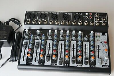 BEHRINGER XENYX 1002B 2-Bus 10-Ch Mic Preamps 3-Band EQ Battery
