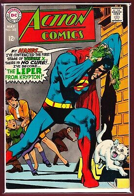 """Dc_Action Comics # 363_Vfn-_(1968)_""""The Leper From Krypton!""""."""