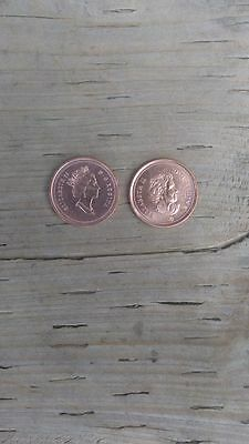 2000 and 2007 Canada 1 Cent Penny Coin