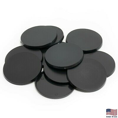 Pack of 12, 60 mm Plastic Round Bases Miniature Wargames Table Top gaming