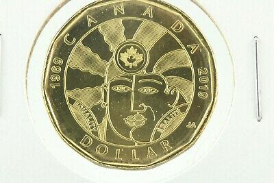 """2019 Canada """"Equality"""" Loonie circulation $1 direct from MINT roll"""