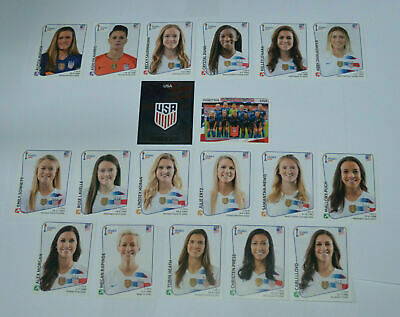 Panini Team Usa Fifa Women's World Cup 2019 Champions Complete Stickers Set