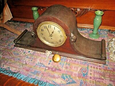 antique Seth Thomas clock with key & pendulum