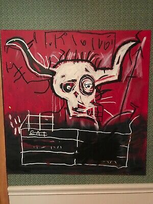 Jean Michel Basquiat Oil on Canvas, Picasso / Old Master Influenced