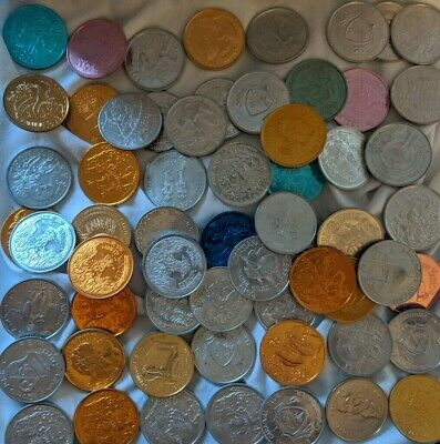Huge Lot of Mardi Gras Doubloon Coin Tokens from 1970s - Early 1980s Parades