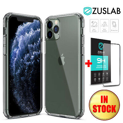 For iPhone 11 Pro MAX X XS MAX XR Case ZUSLAB Clear Heavy Duty Hard Back Cover