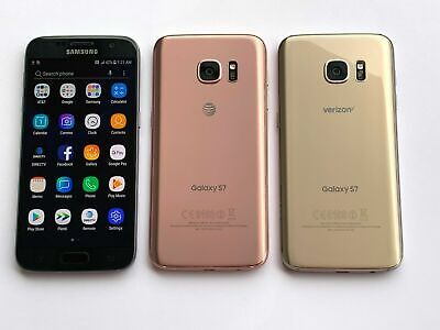 Samsung Galaxy S7 SM-G930 - Gold Black Pink - Verizon AT&T T-Mobile Unlocked