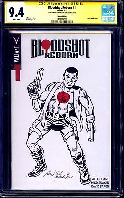 Bloodshot Reborn #1 BLANK CGC SS 9.4 signed SKETCH by Don Perlin CREATOR VALIANT