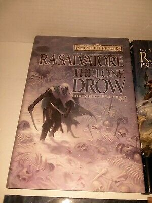 FORGOTTEN REALMS BOOKS by R A  Salvatore, Lot of 3 Books - $12 74