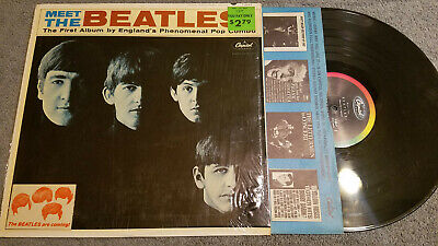 "Beatles Meet The Beatles Mono Ext Rare No Bmi/Ascap W ""Coming"" Sticker / Shrink"