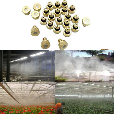 5X BRASS MISTING Nozzles Water Mister Sprinkle Spray Patio Cooling