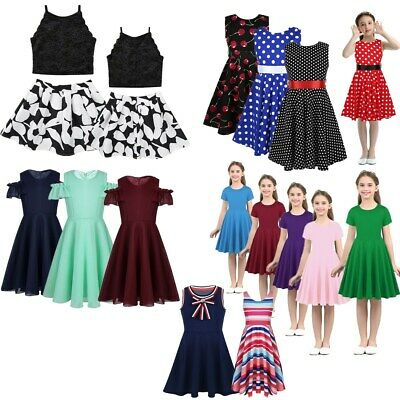 Toddler Kids Girls Summer Princess Dress Party Casual Holiday Skirt Outfit Dress