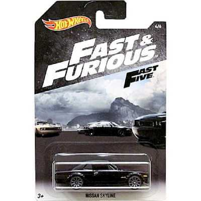 Hot Wheels Modellauto Nissan Skyline 2000 Fast and Furious Fast Five Neu in OVP