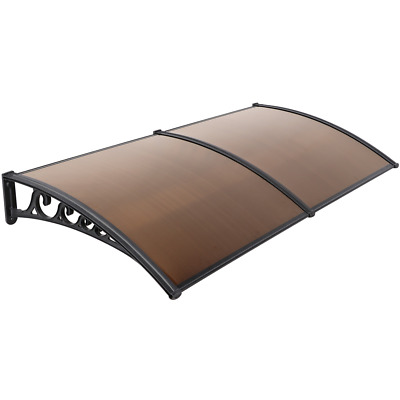 1m x 2m Outdoor Door Canopy Roof Cover Awning Shelter Window Patio Front Used B