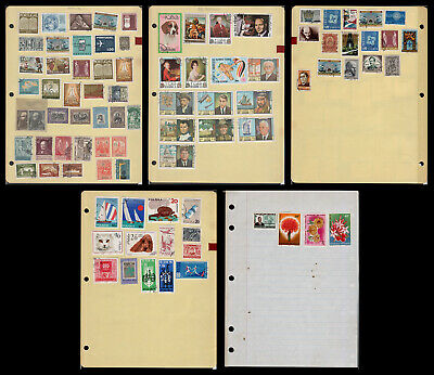 A4 Homemade Album Pages with 24 Used, Mint & CTO Stamps (WF17)