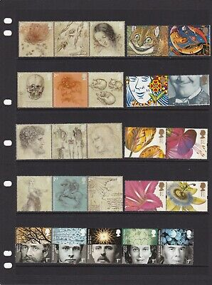 50 x 1st Class Stamps-Unused With Full Gum (Various Designs On 2 Scans-FV £35)