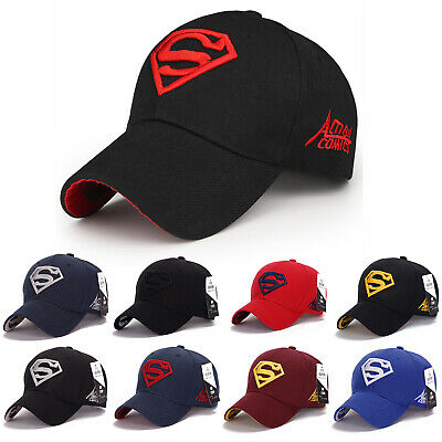 Mens Superman Embroidery Baseball Cap Adjustable Sports Snapback Sun Casual Hat