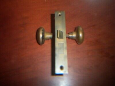 Vintage Yale Mortise Door Hardware with Brass Door knobs.USED