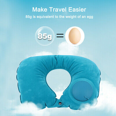 Portable U-Shape Automatic Air Inflatable Travel Pillow Foldable Car Neck Pillow