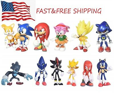 6 Pcs Sonic The Hedgehog Action Figures Cake Toppers Toys Usa Seller 15 98 Picclick