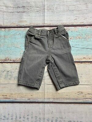 Tommy Hilfiger Size 3-6 Mos Adjustable Buttoned Pant Legs Gray Light Wash Jeans