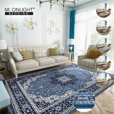 Large Extra Large Traditional Rugs Vintage Style Modern Carpet Mat Non Slip Rug