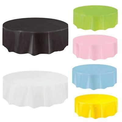 Retro Plastic Round Tablecovers Table Cloth Cover Party Catering Tableware Warm