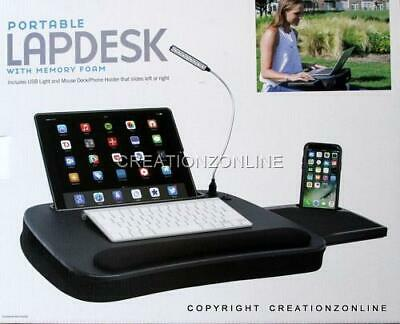 Sofia and Sam Multi Tasking Portable LapDesk With Mouse Deck/USB Light New