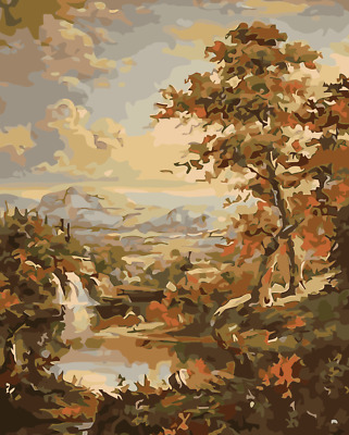 Paint By Numbers Kit Canvas 50*40cm 8214 AU Shipping S1 Forest
