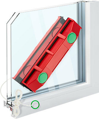 Magnetic Window Cleaner For Hard To Reach Outer Window Side Double Glaze Tyroler