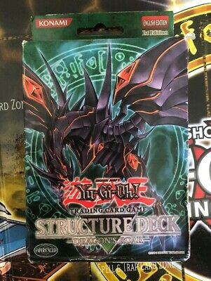 Yugioh Structure Deck Dragon's Roar (SD1) Complete New 1st Edition