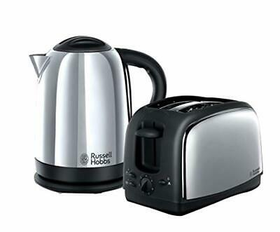 Kitchen Set of 2 Russell Hobbs 1.7 L Kettle and 2-Slice Toaster Home Appliance