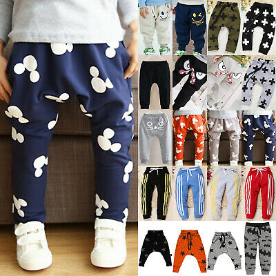 Child Kids Boys Girls Casual Baggy Harem Pants Sweatpants Long Bottoms Trousers