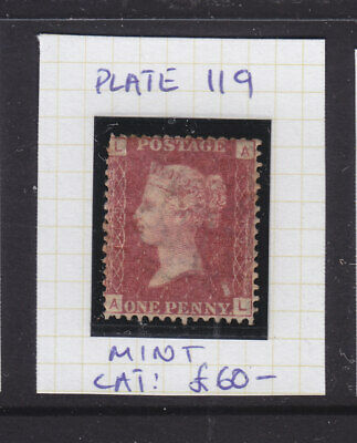Gb: Penny Red Plate # 119  Mint  And  Scarce!!! ,