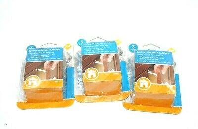 Safety 1st Lot of 3(3-packs)Spring n' Release Latches 9 in Total Child Baby